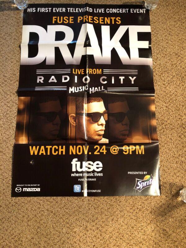 DRAKE Original Concert PROMO Poster. Live Radio City NYC 27x39 RARE