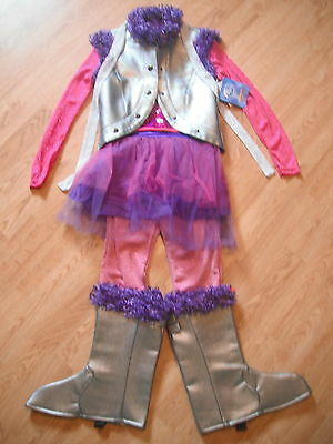 Miley Cyrus Halloween Dress Up (NEW Disney Store HANNAH MONTANA Girls COSTUME 7/8 ROCKSTAR Halloween Miley)