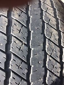 four used 275 60 20 inch truck tires