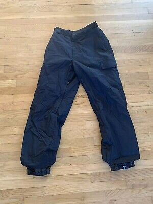 Quicksilver Utility Series Snowboard Ski Snow Pants Mens Large Black Vented :RR