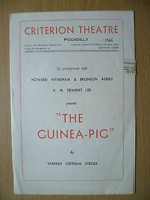 CRITERION THEATRE PROGRAMME 1946- THE GUINEA PIGby Warren Chetham Strode