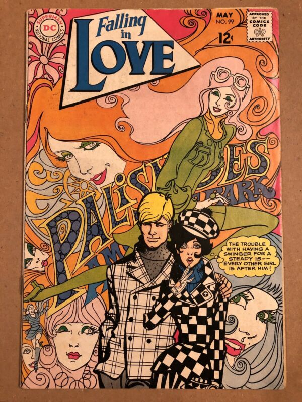 FALLING IN LOVE #99 COMIC GREAT ART COMIC COVER 1968 SILVER AGE DC