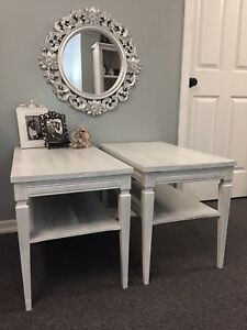 Set of Shabby Chic Side Tables