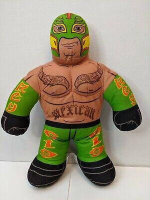 """WWE Wrestling Brawlin Buddy 16"""" Talking Rey Mysterio Plush Figure- Says 6 Things"""
