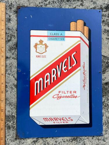 """Vintage MARVELS CIGARETTES Metal Sign 10"""" x 15"""""""