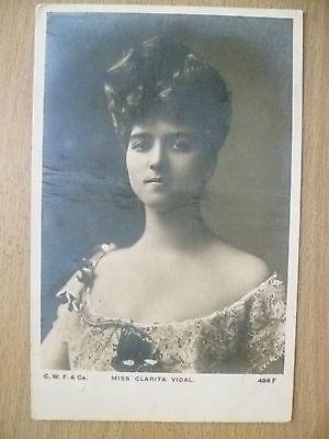 1905 Used Postcard- Theatre Actress MISS CLARITA VIDAL