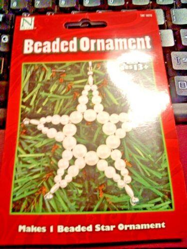 (NEW) Nicole Beaded Ornament STAR Christmas Ornament Craft Kit #1078 FREE SHIP