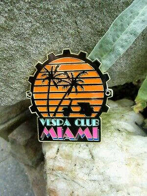 Rare - VESPA Club MIAMI - Badge USA Scooter - Limited - Numbered