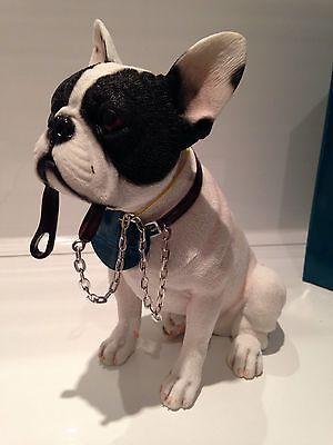 (Sitting Black and White Pied French Bulldog Ornament Dog Figurine Gift Present)