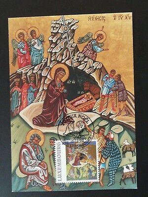 religious art Christmas maximum card Luxembourg 1996 ()