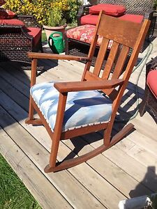 Antique solid oak chairs.