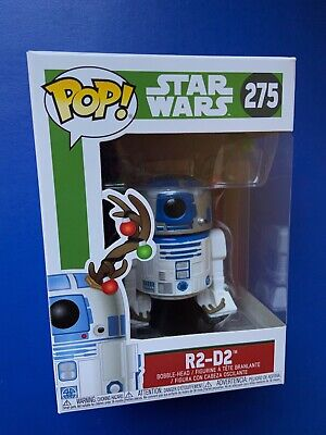 Star Wars R2-D2 With Antlers POP Vinyl Figure #275 Holiday Christmas Pop Funko