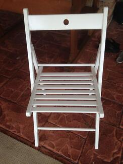 fold up wooden chairs. wooden fold up chairs x 2 two t