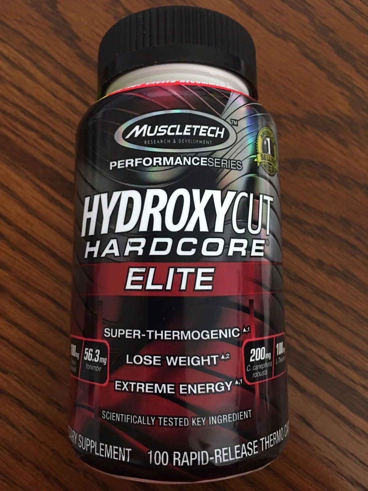 MuscleTech HYDROXYCUT Hardcore Elite 100 ct Free Ship 2022 E