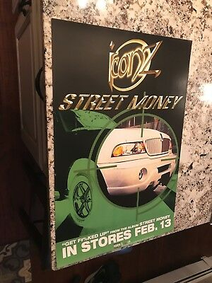 ICONZ Street Money, orig Elektra promotional poster, 2001, 18x27 MINT hip-hop