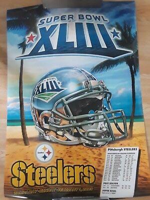 Superbowl XLIII Pittsburgh Steelers Poster Football Champions Man Cave Bar Decor](Superbowl Decor)