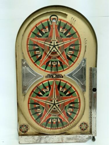 LINDSTROMS GOLD STAR BAGATELLE PINBALL GAME 1934