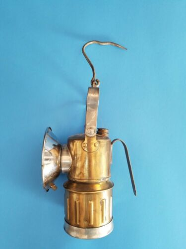 """Miners JUSTRITE CARBIDE HAND LAMP Made in U.S.A. 13"""" x 6"""" Collector"""