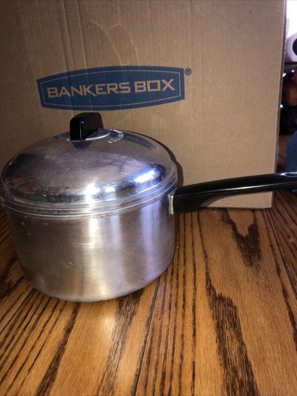 "RARE Vintage ALADDIN ""No-Shake"" Corn Popper Pan Aluminum Stovetop Popcorn Maker"