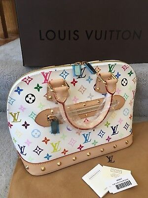 Authentic Louis Vuitton Alma Murakami Multicolore Blanc