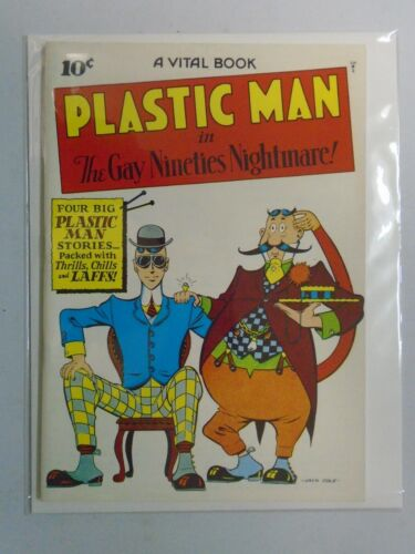 Flashback #33 Plastic Man #2 1944 reprint 8.0 VF (1974 DynaPubs)