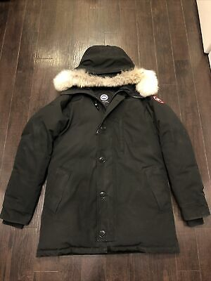 Canada Goose Chateau Parka Fur Hood Black Mens Large