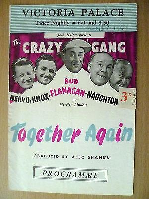 .1948 Victoria Palace Theatre Programme:Jack hylton-CRAZT GANG- TOGETHER AGAIN