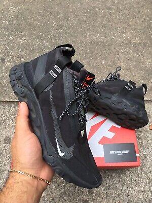 Nike React Runner Mid WR ISPA Black Anthracite AT3143-001 Men's Size 8