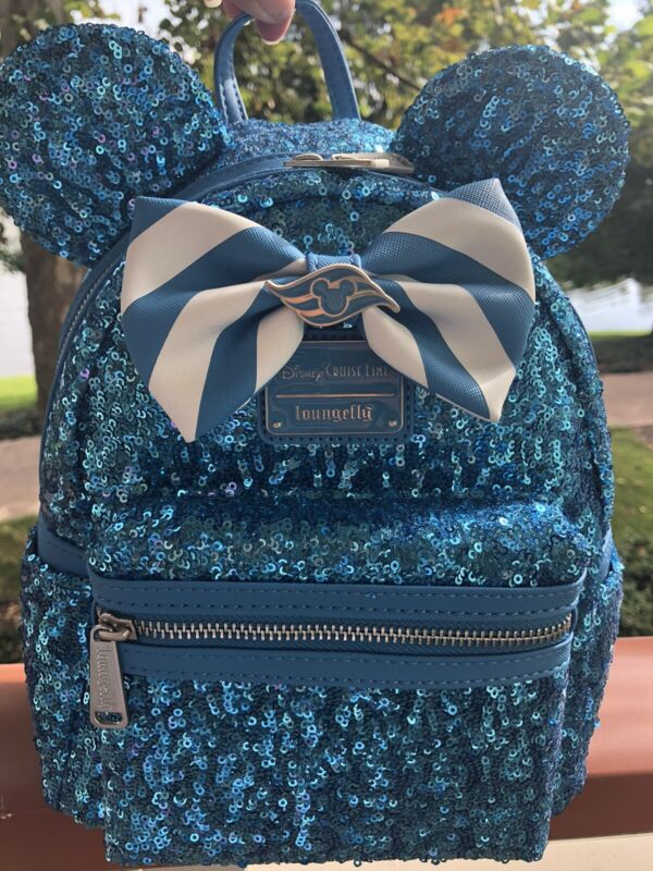Disney Cruise Line DCL Loungefly Sequined Mini Backpack New