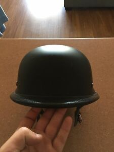 German style motorcycle helmet