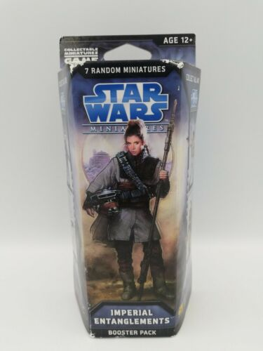 Star Wars Miniatures Imperial Entanglements Booster Pack HTF Factory Sealed