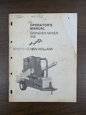 New Holland Grinder-mixer 385 Owners Manual