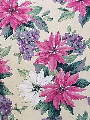 1 Half Metre Length Printemps Floral Print Fabric 100/% cotton 44032-23