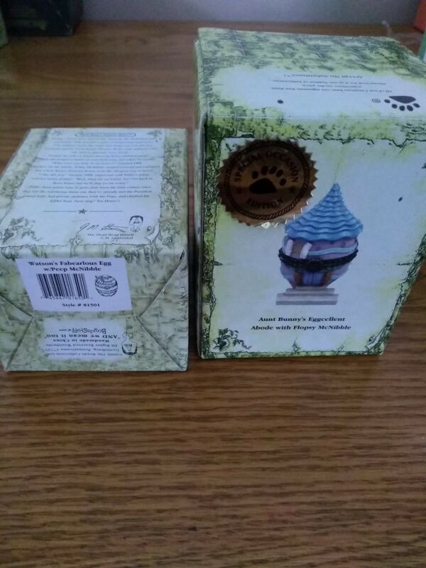 2 Boyds Treasure Boxes AUNT BUNNY