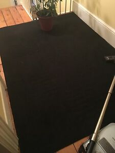 Black Area Rug - 5' by 7'