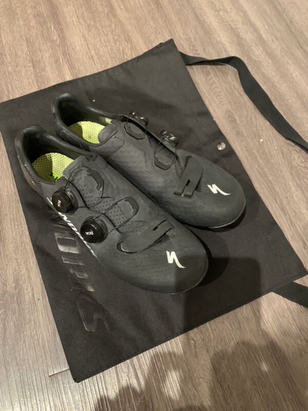 SPECIALIZED S WORKS 7 2020 CARBON ROAD SHOE BLACK Sz42 Mens 9. Cleats Included