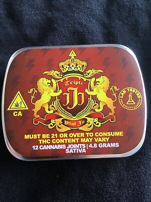 SMALL TIN METAL BOX, DECORATIVE SMALL CIGARETTE STORAGE RED CONTAINER! SALE!! - Small Metal Containers