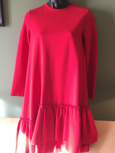 Il Gufo 14 Anni Girls Red Dress with Asymmetrical Skirt