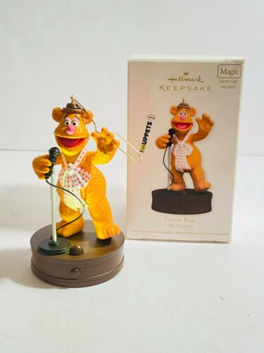 Hallmark Keepsake Ornament The Muppets Fozzie Bear Magic Light Sound 2012 Tested