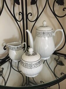 Tea/ coffee pot sugar bowl milk jug French provincial detail