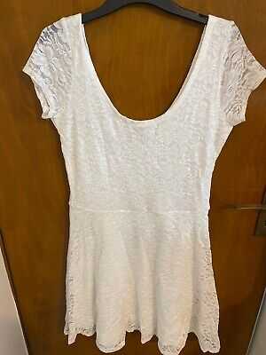ABERCROMBIE & FITCH White Dress size L