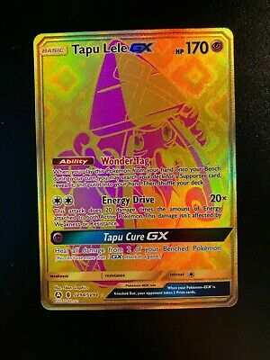 Pokemon Card Tapu Lele GX SV94/SV94 Hidden Fates SECRET RARE