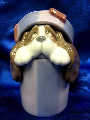 RETIRED I'LL BE YOUR BEST FRIEND DOG IN PRESENT GIFT BOX  NAO BY LLADRO