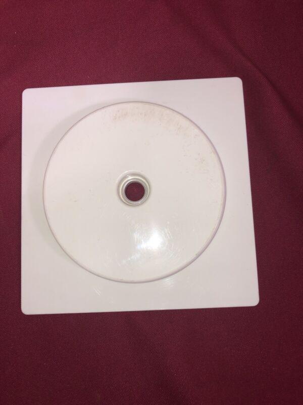 """*4 PACK* Retail Turntable White 5.5"""" Base, 4.25"""" Inner Dia. X 9/16"""""""