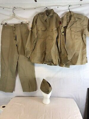 WW2/Korea US Army 43rd Infantry Division Khaki Uniform Complete