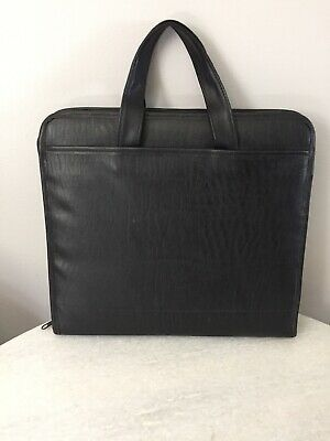 Km From Avery Powercase Black Zip Around Binder With Handles
