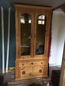 Custom pine gun cabinet