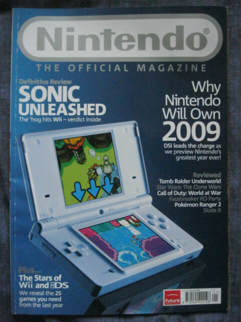NINTENDO MAGAZINE. ISSUE 38. January 2009. EAN: 9770965424128. Official.