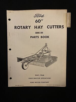 Ford 60 Rotary Hay Cutters 505 Parts Book 1968 1580