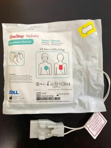 New OneStep Pediatric Electrode, Single 8900-0218-40. Expiration: 06/09/2020